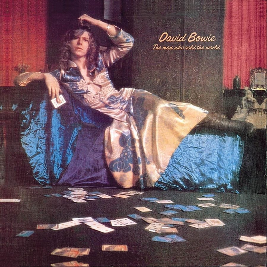 The best-recognized version of the cover, featuring Bowie in his Haddon Hall apartment in a Michael Fish dress, was only ever used on the original UK release. Vetoed by executives for the American release, it wouldn't be reinstated until 1990.