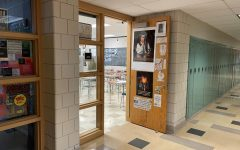 The entrance to Mr. Weaver's History classroom, where students studying the past also learn ways to comprehend the present.