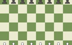 A virtual chessboard as seen on Chess.com