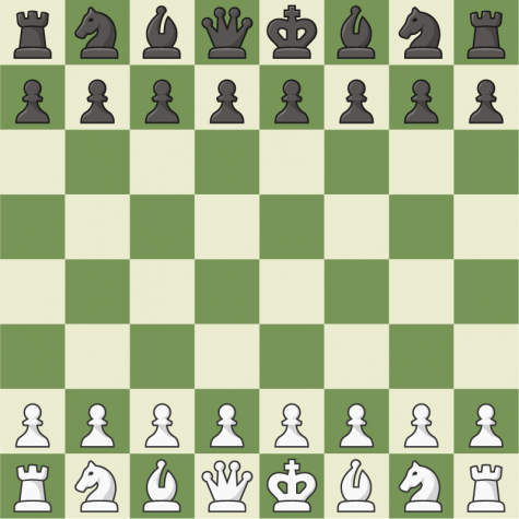 A virtual chessboard as seen on Chess.com